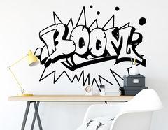 """Wandtattoo """"Boom"""" ideal für Comic- und Graffitifans"""