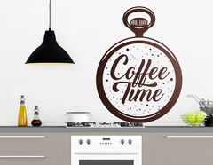 "Wandtattoo ""Coffee Time"" passt 24h am Tag"