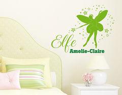 Elfenzauber - Wandtattoo mit Wunschname fürs Kinderzimmer
