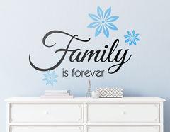 """Wandtattoo """"Family is forever"""" für Dein Zuhause!"""