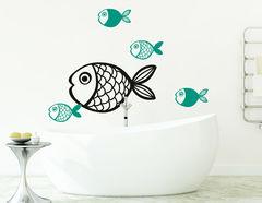 """Wandtattoo """"Fische"""" für tierisches Badevergnügen"""