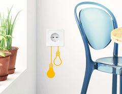 Wandtattoo Glühbirnen für Lichtschalter und Steckdose