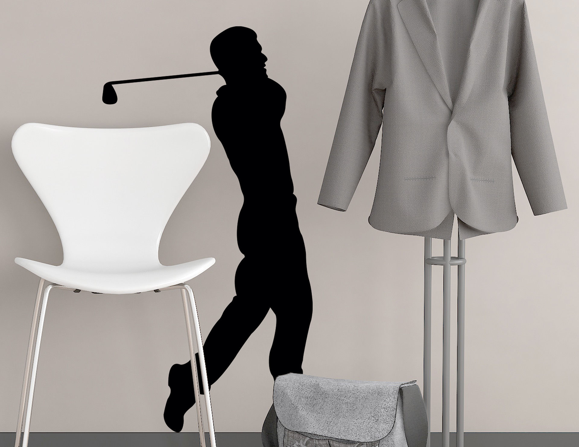 Wandtattoo Golfspieler