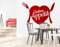 """Wandtattoo """"Guten Appetit"""" zeigt die Liebe zum Essen"""