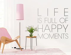 """Wandtattoo """"Happy Moments"""" schafft Glück und Freude"""