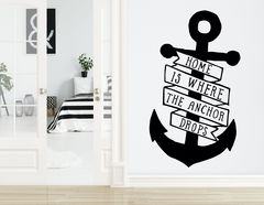 """Wandtattoo """"Home is Anchor"""" markiert Dein Zuhause"""