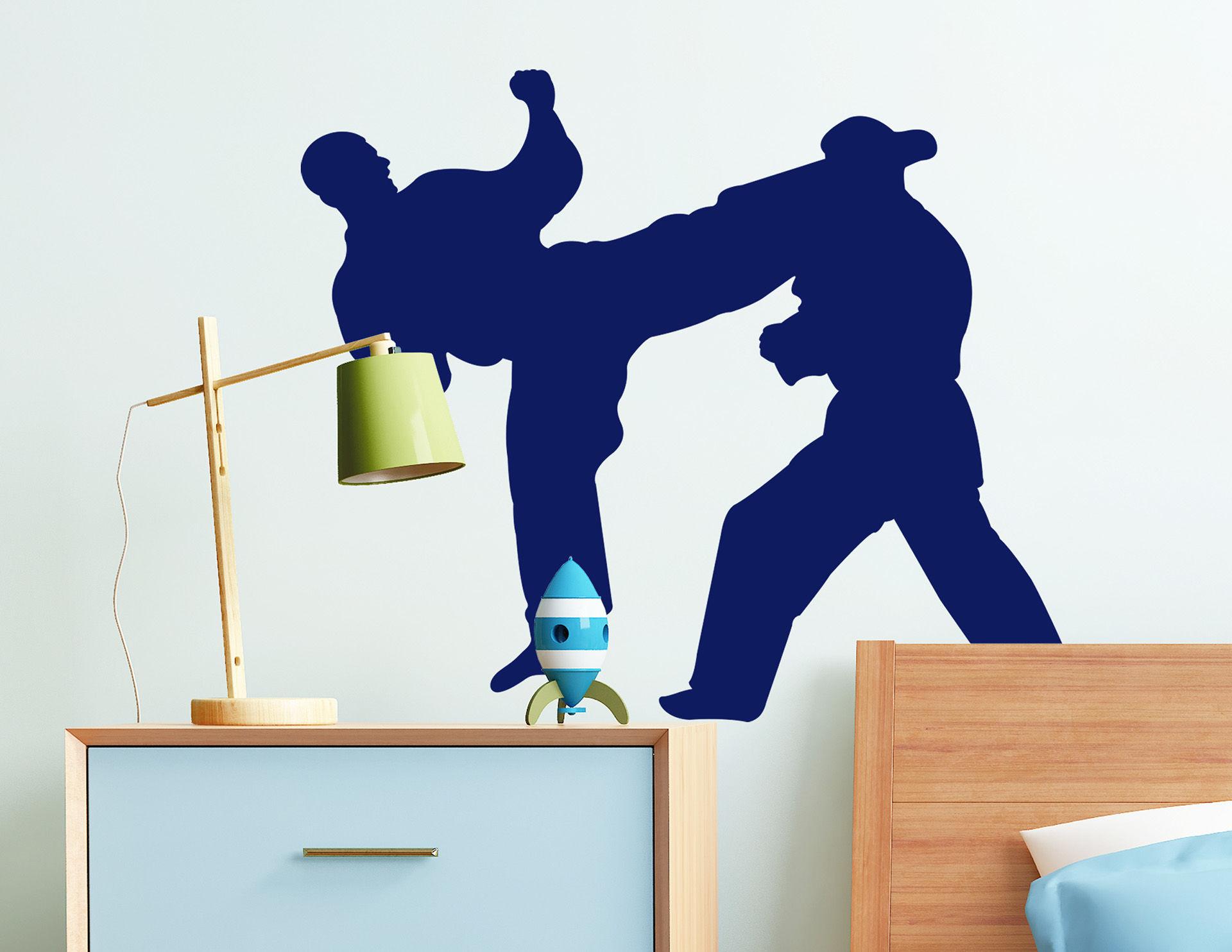 Wandtattoo Judoka