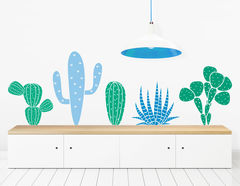 """Wandtattoo """"Kaktusfreunde"""" wirkt natürlich"""