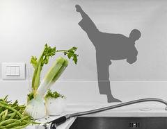 Wandtattoo Karatekämpfer