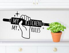 """Wandtattoo """"Kitchen Rules"""" für die Küche"""