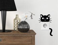 Wandtattoo Kitty Cat für Lichtschalter und Steckdose