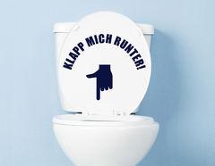 Klapp mich - WC-Aufkleber für Bad und Gästetoilette