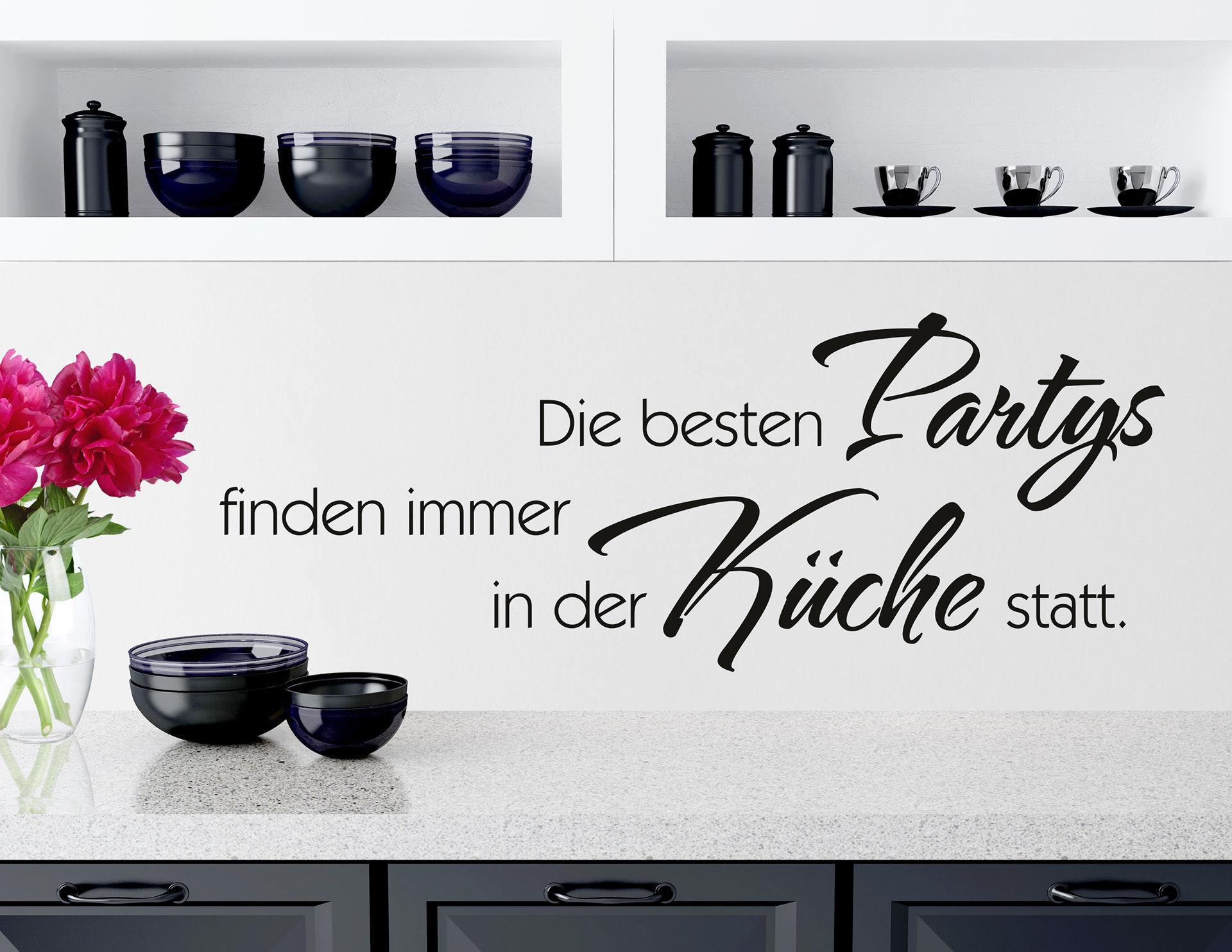 """Wandtattoo """"Küchenparty"""" bringt Leben in die Küche"""
