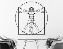 """Wandtattoo mit Motiv von """"Leonardo da Vinci"""""""