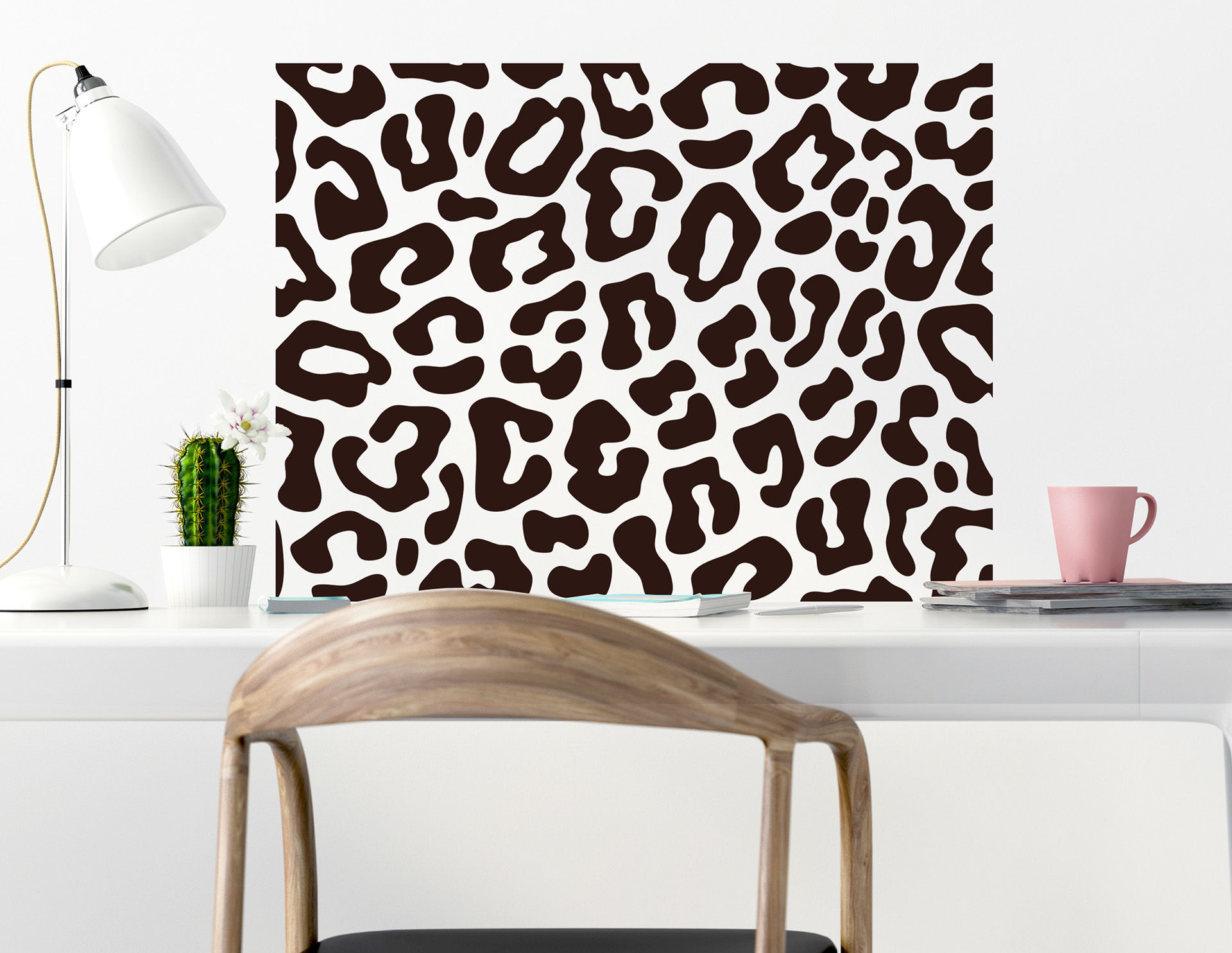 Wandtattoo Leopard Pattern