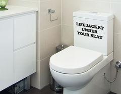 Lifejacket - WC-Aufkleber für Bad und Gästetoilette