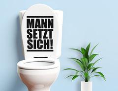 Mannomann - WC-Aufkleber für Bad und Gästetoilette