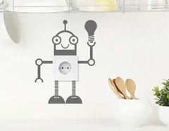 Wandtattoo Mister Robot für Lichtschalter und Steckdose