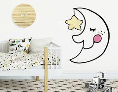 """Wandtattoo """"Mondmännchen"""" beschützt die Kleinen"""