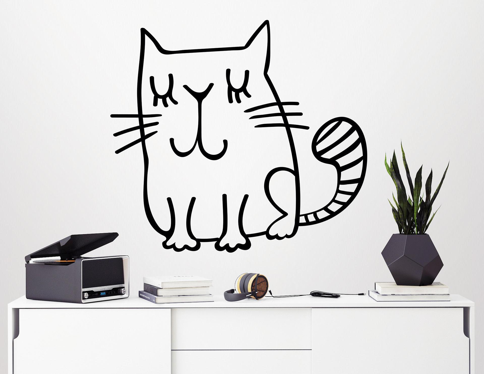 """Wandtattoo """"Nelli die Katze"""" für echte Katzenliebhaber"""