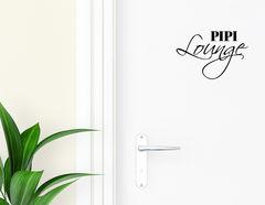 Pipi Lounge - Aufkleber für die Tür in Bad & Gästetoilette