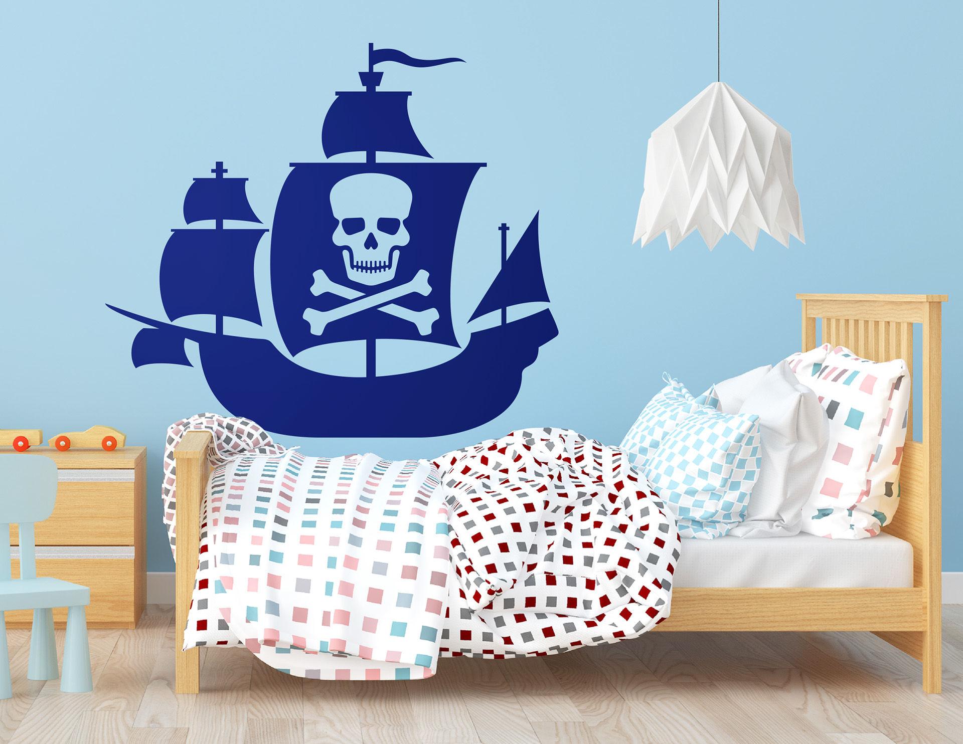 """Wandtattoo """"Piratenschiff Thriller Bark"""" für kleine Eroberer"""