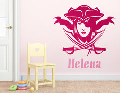 """Wandtattoo """"Piratin"""" zeigt die Königin der Meere"""