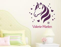 Pony Zauber - Wandtattoo mit Wunschname fürs Mädchenzimmer