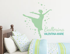 Primaballerina - Wandtattoo mit Wunschname
