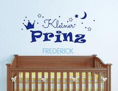 Prinz - Wandtattoo mit Wunschname für das Kinderzimmer
