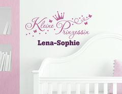 Prinzessin - Wandtattoo mit Wunschname für das Kinderzimmer