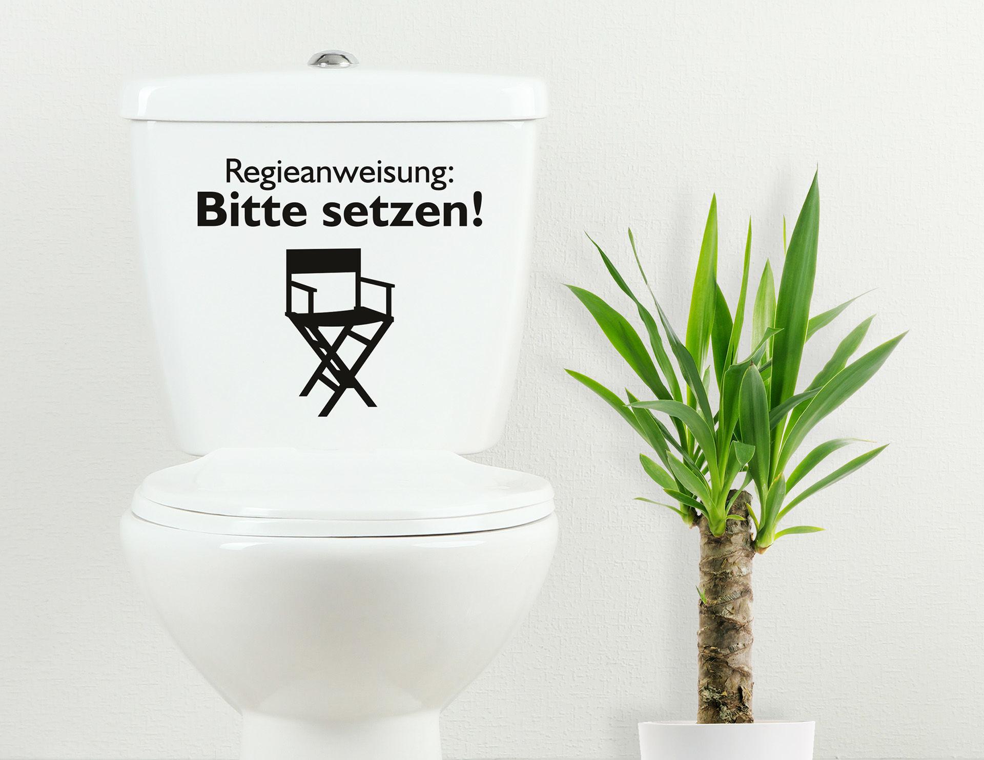 Regieanweisung  - WC-Aufkleber für Bad und Gästetoilette