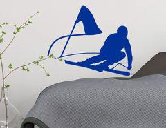 Wandtattoo Skifahrer - Sportaufkleber für Dein Zuhause