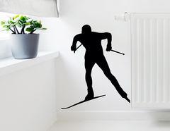 Wandtattoo Skilangläufer - sportliche Aufkleber für die Wand