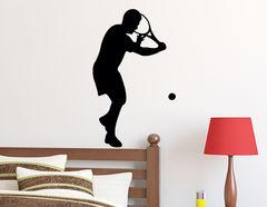 Wandtattoo Tennis Aufschlag