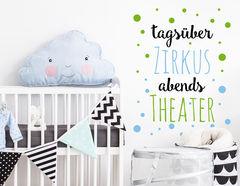 """Wandtattoo """"Theaterzirkus"""" für kleine Rabauken"""