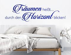 """Wandtattoo """"Traum Horizont"""" für Weitsicht im Alltag"""