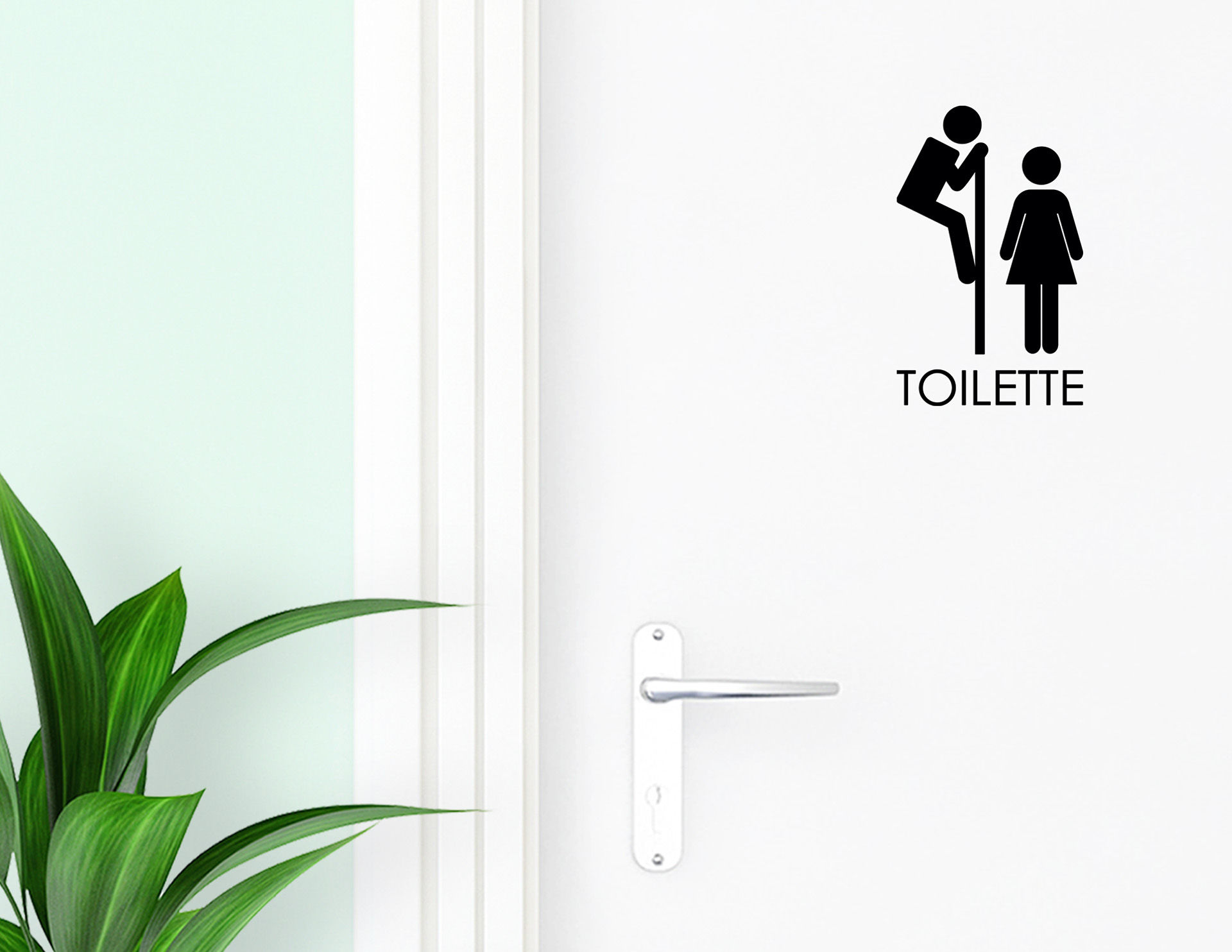 Voyeur - Aufkleber für die Tür in Bad & Gästetoilette