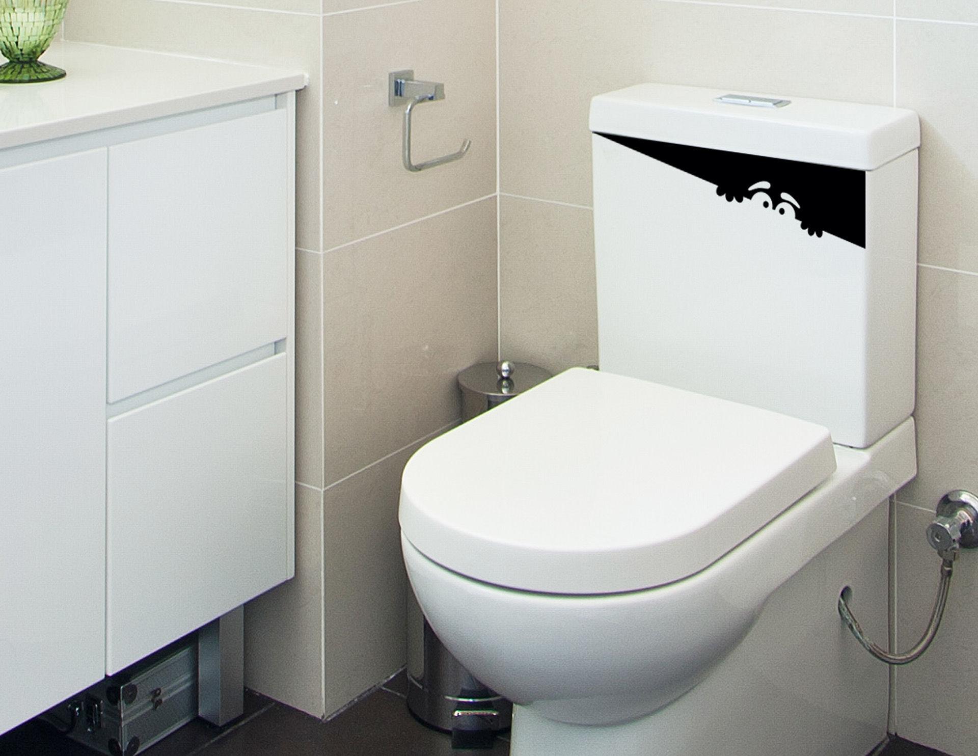 WC Schreck - lustiger WC-Aufkleber für den Spülkasten