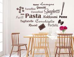 """Wandtattoo """"Wortwolke Pasta"""" für Pasta-Fans"""