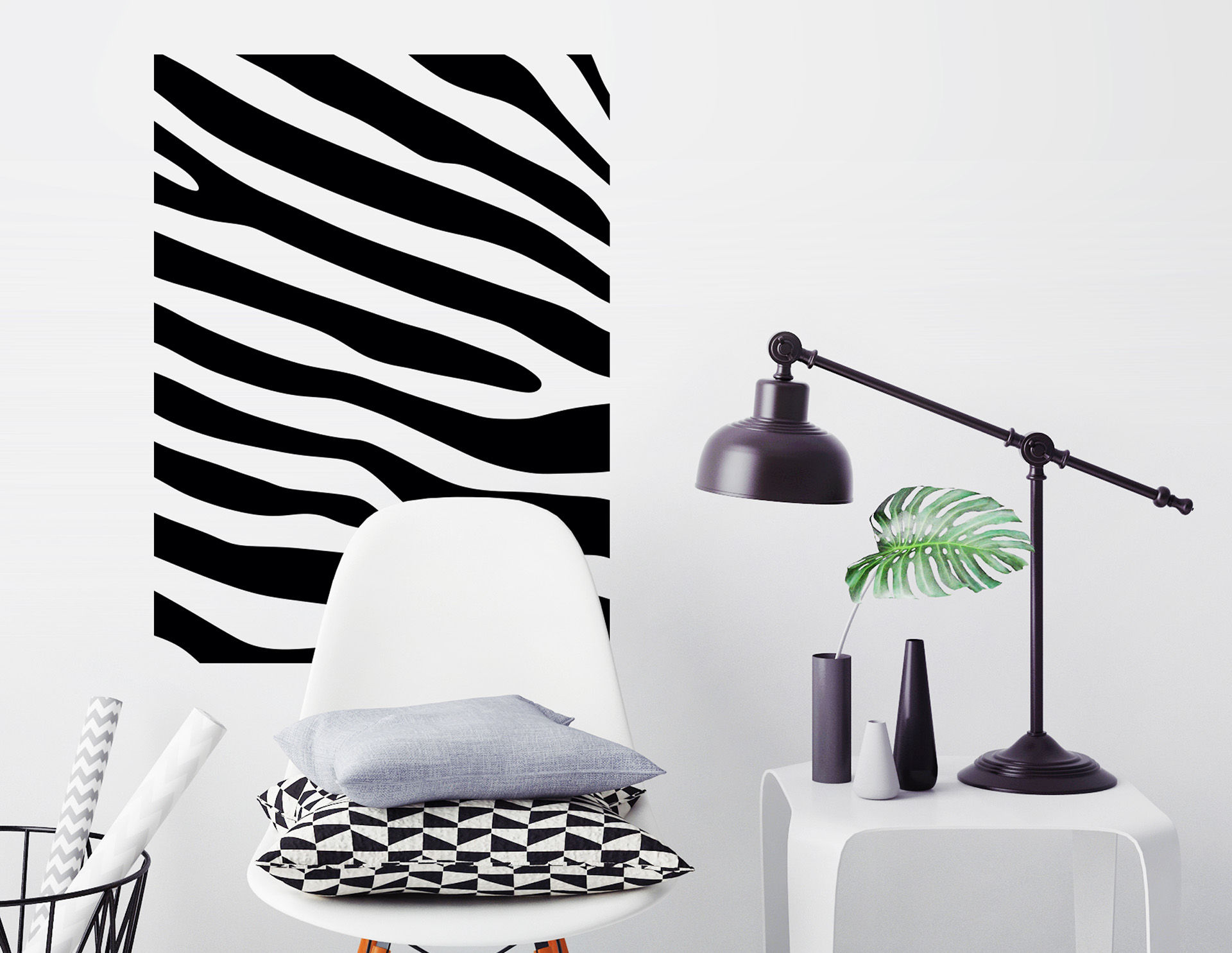Wandtattoo Zebra Pattern