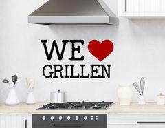 """Wandtattoo """"We love grillen"""" für echte Grillmeister"""