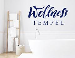 "Wandtattoo ""Wellness Tempel"" macht Dein Bad zum Spa"
