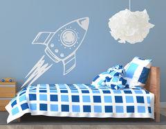 """Wandtattoo """"Spaceship Spencer""""  startet in ferne Galaxien"""