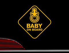 """Autoaufkleber """"Nuckel-Alarm"""" für die kleinsten Mitfahrer"""