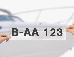 Bootskennzeichen & Bootsnummer - Schritt 1