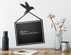 Tafelfolie Kolibri mit Rahmen