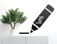 Tafelfolie Stift mit Linie