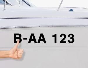 Bootskennzeichen & Bootsnummer - Schritt 3