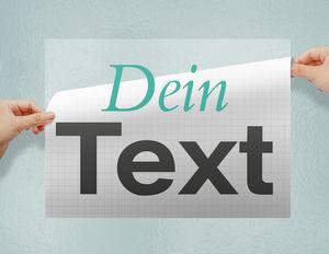 Klebebuchstaben & Folienschrift online selbst gestalten